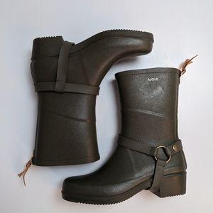 Aigle Miss Julie Boots Green 39 NWOT
